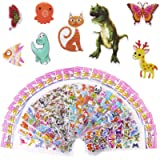 Meafeng Animal Puffy Stickers for Kids 52 Sheets 3D Stickers Pack for Children Over 1100 Stickers for Boys Girls and…