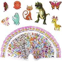 Meafeng Autocollants Stickers Animaux 3D pour Enfant 52 Feuilles Pack de Variétés Autocollants Plus de 1100 Comprenant…
