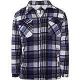 Shop Online Men's Padded Check Shirt Fur Lumberjack Collared Quilted Jacket Warm Thermal Casual Workwear Top Fleece Lumber Ja