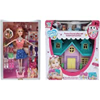 CADDLE & TOES Doll House for Girls / Doll Set with Footwears, Multi Sets of Fashion Accessories + a Cute Doll House Free with All Accessories