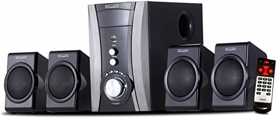 Mitashi HT 4440 FU 4.1 Channel Home Theatre System (Black)