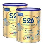 Nestle Wyeth Nutrition S26 Progress Gold Stage 3, 1-3 Years Premium Milk Powder for Toddlers 900g with Nutrilearn System -