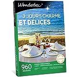 Wonderbox - Coffret cadeau - 3 JOURS CHARME ET DÉLICES - 960 Séjours de 2 nuits en Hôtels 3 et 4 étoiles, Châteaux, Manoirs