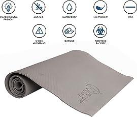 Fitup Life 6mm PVC Free, EVA Yoga Mat – Optimal Stability – Longevity – Soft & Firm (Imported)