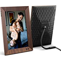 Nixplay Smart Wifi Digital Picture Frame 10.1 Inch Wood-Effect - Share Video Clips and Photos Instantly via E-Mail or…