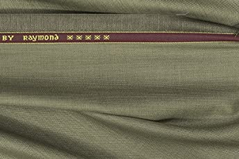 Raymond Men's Unstitched Poly Viscose and Polyester Trouser Fabric Brown_1.3m