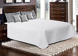 Linenwalas Premium Cotton Self Jacquard Hand Block Printed Bedcover