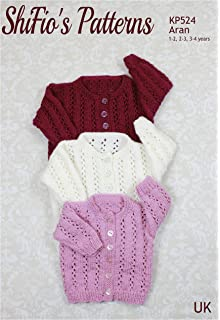 Knitting Pattern for Childs Bobble Cardigan 1 to 2 Years, 2