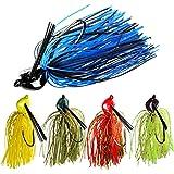 THKFISH 20g Jigs de Pesca Señuelos de Pesca en mar de Agua Dulce Color Mezclado Señuelos de hundimiento para Lucio Perca Truc