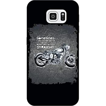 The Racoon Lean printed designer hard back mobile phone case cover for Samsung Galaxy S6. (BIke Thera)