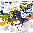 Magicfun Kit Pintura para Niños, Figuras Dinosaurios para Pintar, 36 Piezas Juguetes de Dinosaurios Creativo No Tóxicos Avec