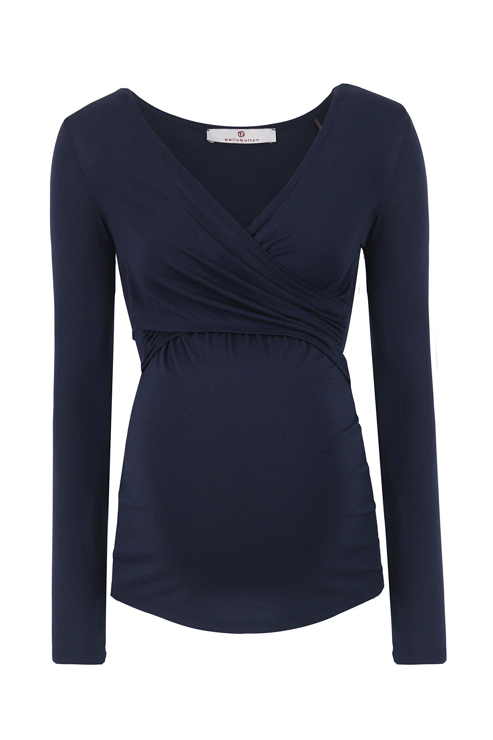 bellybutton Laila-Stillshirt 1/1 Arm, Maglie a Maniche Lunghe Premaman Donna, Blau (Istanbul 3404),