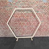 SKYLANTERN Mariage Arche - Arche Mariage Bois Hexagonale 1.70M - Arche en Bois pour décoration de Mariage - Arche Kit pour Ce