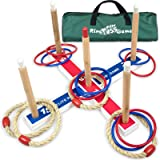 Elite Outdoor Games For Kids - Ring Toss Yard Games for Adults and Family. Easy Backyard Games to Assemble, With Compact Carr