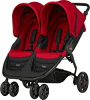 Britax B-AGILE DOUBLE Pushchair/Stroller (Birth to 4 Years/15Kg) - Flame Red