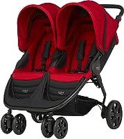 عربة أطفال بريتاكس B-AGILE مزدوجة (محسن حتى 4 سنوات/15 كجم) - أحمر