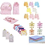 Infantbond 56 in 1 New Born Baby Complete Daily Items Combo(0-6 Months)(Hello Kitty) (Baby Girl Pink)