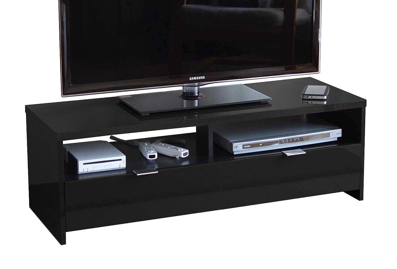 Berlioz Banco Tv Cabinet High Density Fibreboard Grey  # Meuble Tv Noir Mat Design