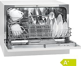 Bomann TSG 708 Tischgeschirrspüler/A+ / 174 kWh/Jahr / 6 MGD / 1820 L/Jahr / Elektronische Programmsteuerung / 6 Maßgedecke/weiß