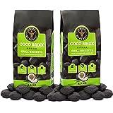 Grill Republic Kokos Briketts Grillbriketts Kokoskohlen für Den Kugel- und Standgrill | Nachhaltig, Hoher Heizwert und 3X Längere Brenndauer | 17kg