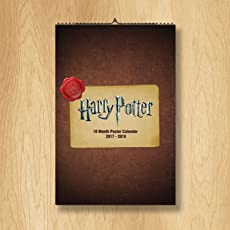 """Mc Sid Razz Official"""" Harry Potter"""" Wall Calendar 18 Months, July 2017- Dec 2018, Licensed by Warner Bros, USA"""