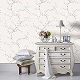 Fresco Great Value Apple Blossom Tree Print Metallic Natural Wallpaper 51-067