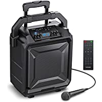 Bomaker Karaoke Anlage 500 Watt Tragbar PA Anlage DJ Party Lautsprecher mit Akku, unterstützt Bluetooth, Gitarre, AUX…