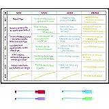 Pizarra Planificadora de Comidas y de Planes por SmartPanda - Calendario Magnético Grande Ideal para Planificar Estudios, Tar
