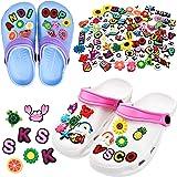 100 Pieces VSCO Girl Stuff Different Shape Shoes Charms Cute PVC Shoe Charms for Clog Shoes Decorations Wristband Bracelet Pa