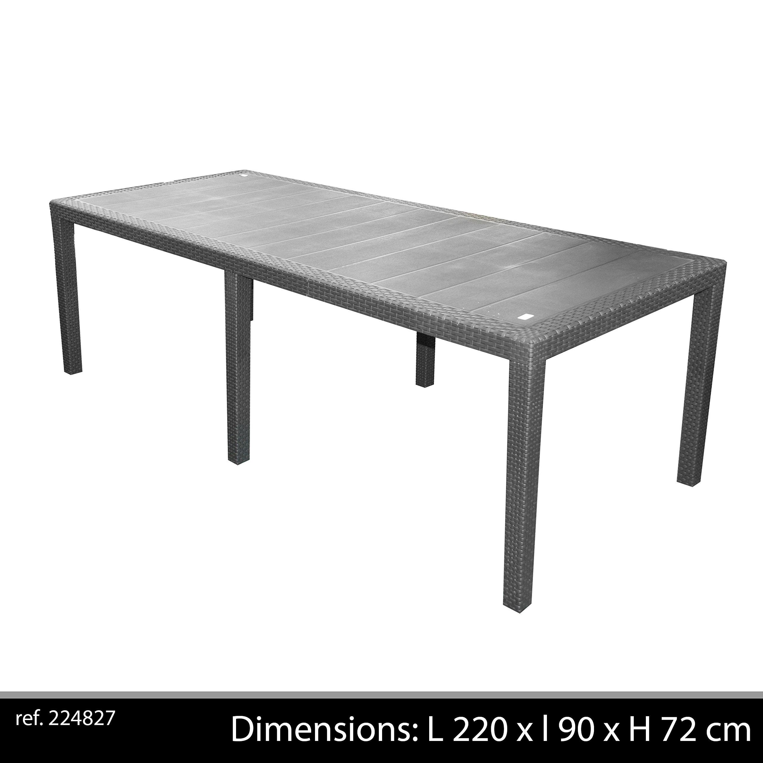 Tavoli Da Giardino Polipropilene.Ipae Progarden S P A Ipae Progarden Tavolo Da Giardino Allungabile