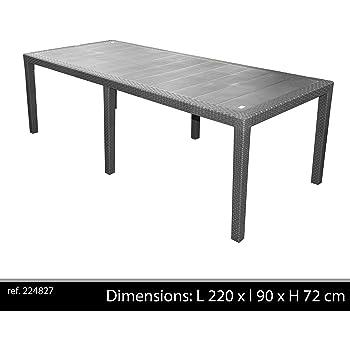 Tavoli Da Esterno In Resina Allungabili.Tavolo Da Giardino Allungabile In Plastica Resina 180 230 Cm Amazon