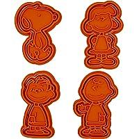 PlasticJewels - Taglia biscotti formine set di 4 personaggi di Peanuts (Linus, Lucy, Charlie Brown, Snoopy)