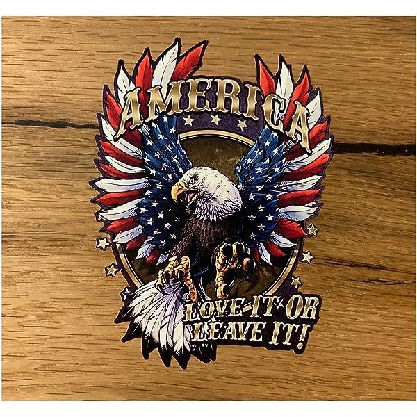 24 7stickers 661 1x Aufkleber Adler Je 12 X 9 Cm Eagle Chopper Bobber Biker Motorrad Usa Vintage Retro Oldtimer Auto