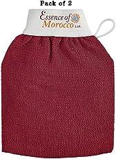 Marokkanischer Kessa-Handschuh, traditionell für Hammam-Baderitual verwendet, beseitigt abgestorbene Hautzellen (Peeling) Premiumqualität.