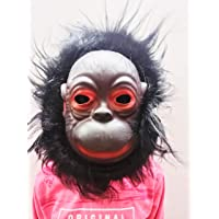 AK Store Latex Rubber Realistic Face Mask with Hairs for Kids, Halloween, Party Costume & Holi Festivals (Baby Gorilla…