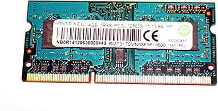 RAMAXEL 1rx8 1.35v Pc3l-12800s-11-13-B4 Hf Rmt3170mn68f9f-1600 4GB Laptop Ram Memory (RMT3170MN68F9F-1600)