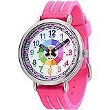 KIDDUS - Orologio educativo per ragazza, ragazza, ragazzo, con cinturino analogico, Time Teacher facile da leggere per impara
