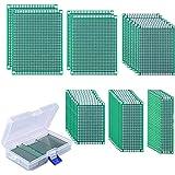 AUSTOR 40 Piezas Placas Circuito Impreso 6 Tamaños PCB Prototipo de Doble Cara con Caja Libre para Soldadura Bricolaje y Proy