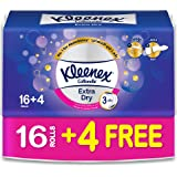 Kleenex Toilet Paper Extra Dry - Pack of 20 Bath tissues Rolls, 160 Tissues x 3 Ply