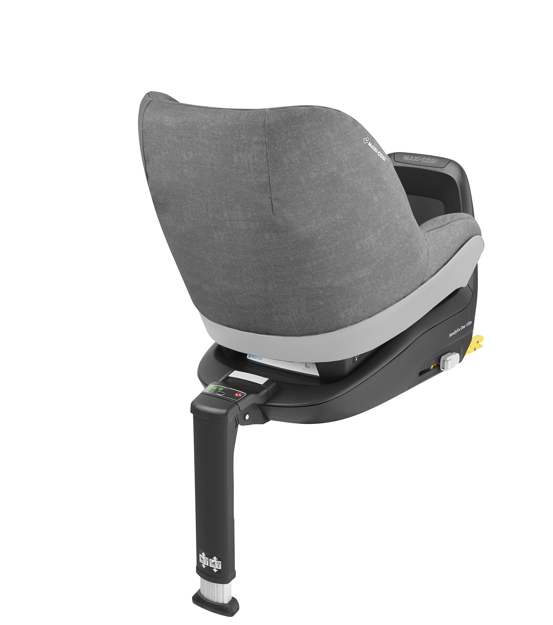 Maxi-Cosi Pearl One i-Size Toddler Car Seat Group 1, Rear-Facing Car Seat, ISOFIX, 67-105 cm, 6 Months-4 Years, Nomad Grey Maxi-Cosi Must be used with the maxi-cosi family fix one i-size base Approved according to the latest european safety standard i-size (r129) Innovative stay open harness to easily get the child in and out in seconds 5