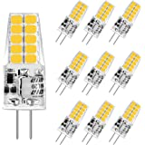 Aourow LED G4-Gloeilamp 3,5 W,Warm Wit 3000K G4 LED 350LM Vervanging voor Halogeenlampen 20W / 35W,12 V AC/DC LED G4-Pins Bas