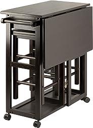 Winsome Wood 23330 Suzanne 3-PC Set Space Saver Kitchen, Smoke