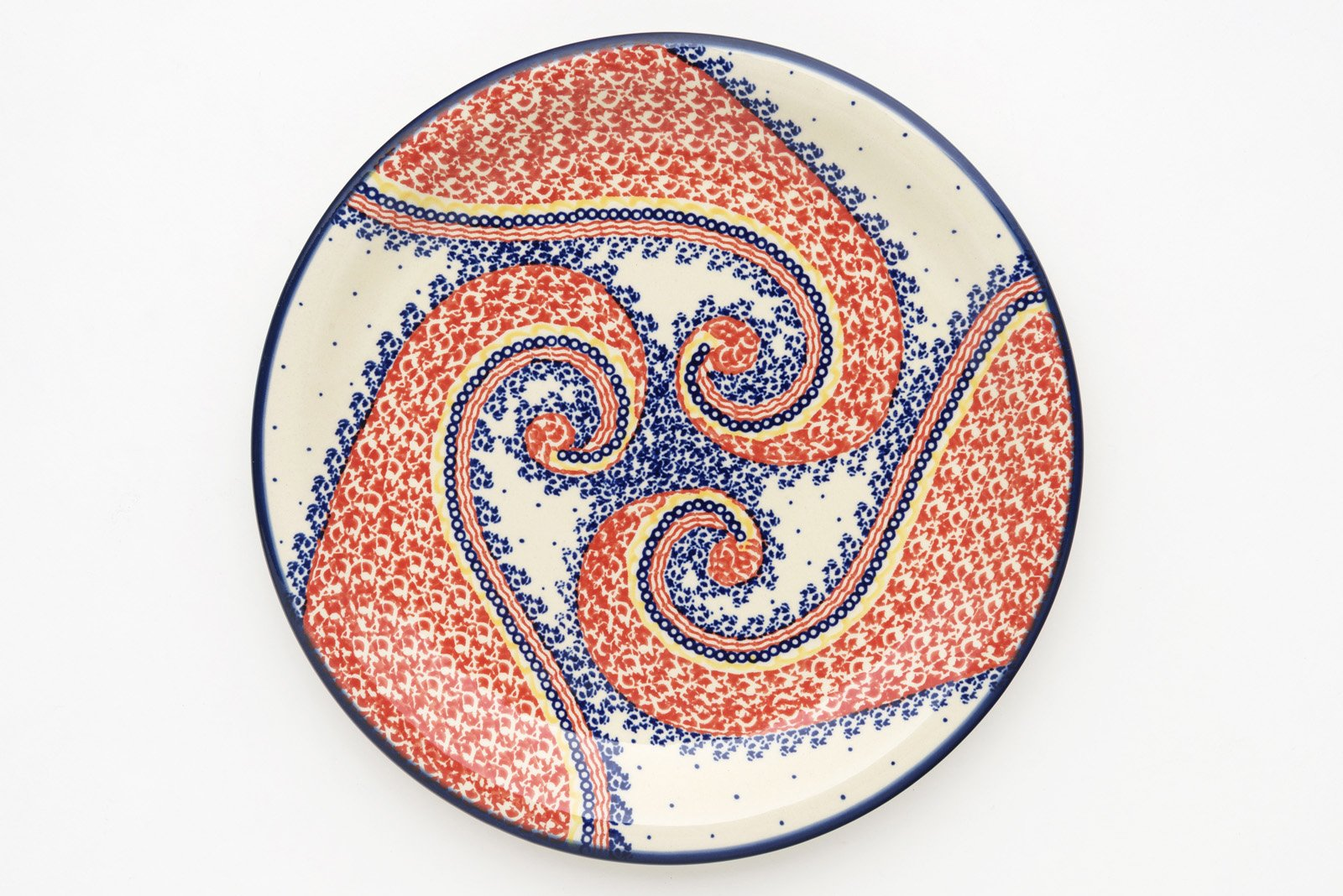 Boleslawiec Pottery Dinner Plate, pattern 250AR