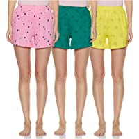 Longies Women's Regular Cotton Shorts
