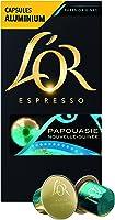 L'Or Espresso Café Papouasie Nouvelle Guinée Intensité 7 - 50 Capsules en Aluminium Compatibles Nespresso®* (Lot de 5X10 capsules)
