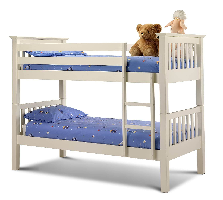 julian bowen barcelona single bunk bed stone white amazoncouk kitchen u0026 home