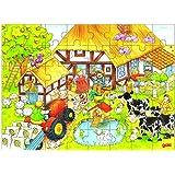 Goki 57619 - Einlegepuzzle - Omas und Opas Bauernhof
