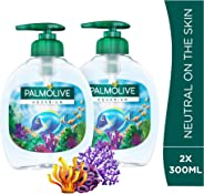 Palmolive Liquid Hand Soap Pump Aquarium Liquid Hand Wash, 300 ml - Pack of 2