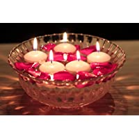 Aura Decor Pack of 20 Nuggets Floating Candles (White Colour) (5cm x 3cm x 3cm) (Burning Time 5 Hours) (20)