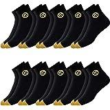 GLINTO Men's Premium Cushioned Cotton Athletic Quarter Socks, Pack of 10 Pairs